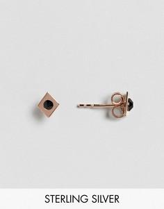 Серьги-гвоздики из позолоченного серебра ASOS - Медный