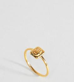 Кольцо в винтажном стиле из позолоченного серебра с отделкой в виде ладони ASOS - Золотой