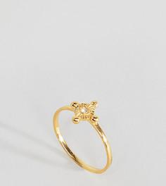 Винтажное кольцо из позолоченного серебра с глазом ASOS - Золотой
