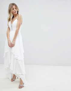 Платье макси с ярусной юбкой Y.A.S - Белый