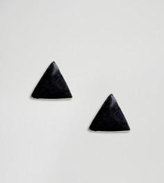 Серебряные серьги-гвоздики Kingsley Ryan - Черный