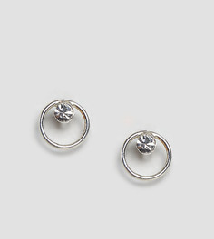 Серебряные серьги-гвоздики с камнем Kingsley Ryan - Серебряный