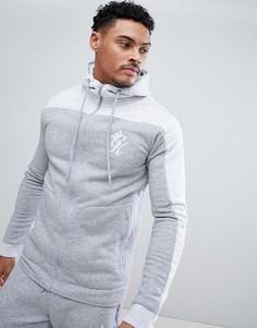 Худи серого меланжевого цвета с логотипом Gym King - Серый