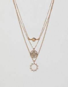 Ожерелье с подвесками Ashiana - Золотой