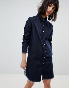 Джинсовое платье-рубашка River Island - Синий