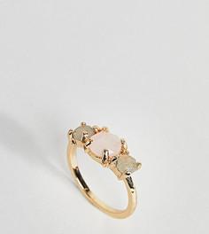 Кольцо с полудрагоценными камнями ASOS CURVE - Золотой