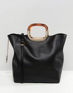 Черная сумка-тоут Faith - Черный