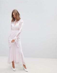 Платье макси асимметричного кроя с оборкой Vero Moda - Мульти