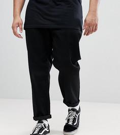 Черные джинсы с двумя складками ASOS PLUS - Черный