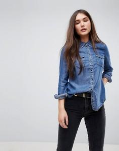 Приталенная джинсовая рубашка Only - Синий
