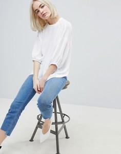 Повседневная тканая футболка ASOS - Белый