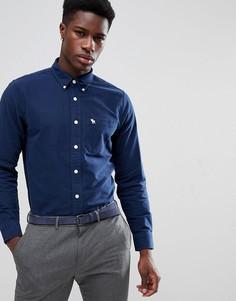 Темно-синяя облегающая оксфордская рубашка с воротником на пуговицах Abercrombie & Fitch - Темно-синий