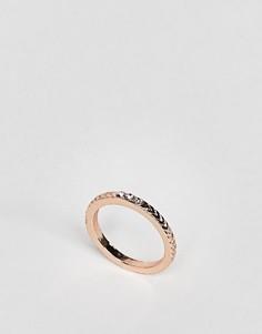 Кольцо с камнем и шевронной отделкой ASOS - Медный