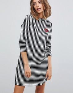 Трикотажное платье в полоску Esprit - Мульти
