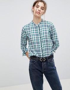 Блузка в клеточку Esprit - Зеленый