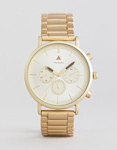 Золотистые наручные часы ASOS PLUS - Золотой