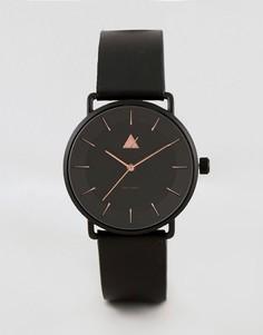 Черные часы с разметкой цвета розового золота ASOS PLUS - Черный