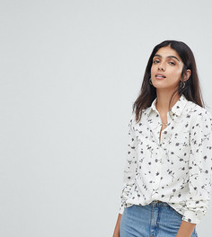 Свободная блузка с цветочным принтом Glamorous Tall - Белый