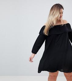 Платье с открытыми плечами Glamorous Curve - Черный