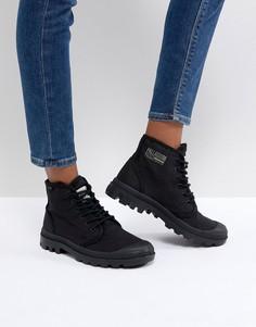Черные парусиновые ботинки на плоской подошве Palladium Pampa Hi Originale TC - Черный