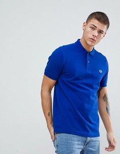 Синяя футболка-поло с двойной окантовкой Fred Perry - Синий