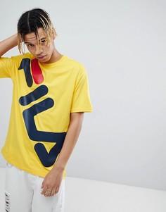 Желтая футболка с крупным логотипом Fila Black - Желтый