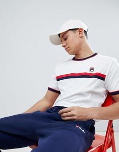 Белая футболка с полосками и контрастной отделкой Fila Vintage - Белый