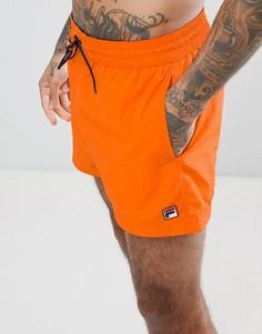 Оранжевые шорты для плавания Fila Vintage - Оранжевый