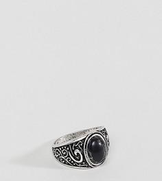 Массивное кольцо с камнем ASOS PLUS - Серебряный