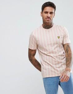 Розовая футболка в полоску с круглым вырезом Lyle & Scott - Розовый