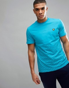 Футболка с принтом Lyle & Scott Fitness Cornet - Синий