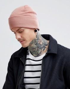 Розовая шапка-бини Weekday Hero - Розовый