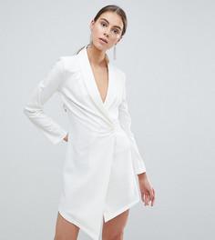 Платье-блейзер с асимметричным краем John Zack Tall - Белый