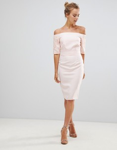 Платье-футляр с кружевными рукавами Little Mistress - Бежевый