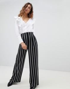 Широкие брюки в полоску Miss Selfridge - Мульти