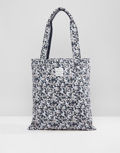 Темно-синяя сумка для книг с цветочным принтом Jack Wills Ambleshire - Темно-синий
