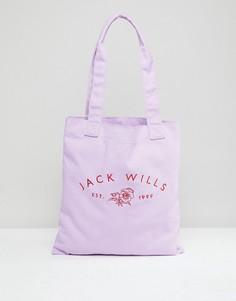 Сумка с логотипом Jack Wills Ambleshire Mr Wills - Фиолетовый