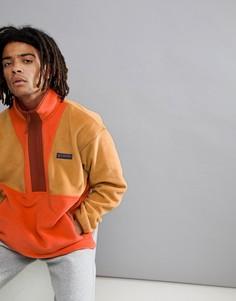 Худи из флиса оранжевого цвета с короткой молнией Columbia CSC Originals - Красный