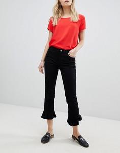 Укороченные джинсы с оборками Only - Черный