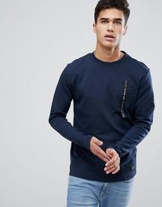 Свитшот с логотипом на кармане Only & Sons - Темно-синий