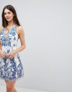 Платье для выпускного с декоративной отделкой Lipsy - Синий