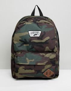 Рюкзак с камуфляжным принтом Vans Old Skool II - Зеленый