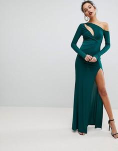Платье макси с запахом Club L - Зеленый
