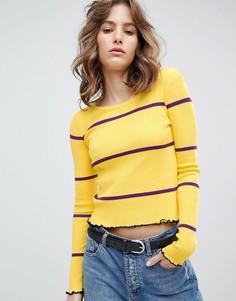 Джемпер в тонкую полоску с волнообразными краями E.L.K - Желтый