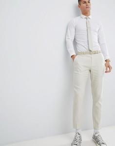 Зауженные брюки River Island Wedding - Кремовый