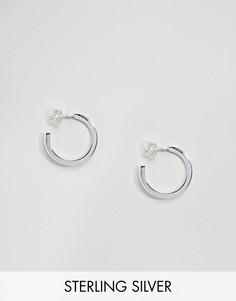 Серебряные серьги‑кольца Weekday - Серебряный