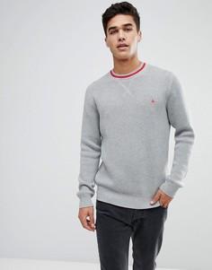 Серый джемпер с круглым вырезом и отделкой в спортивном стиле Jack Wills Stanningfield - Серый