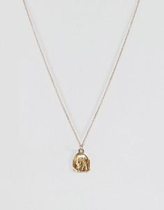 Винтажное ожерелье с подвеской ASOS - Золотой
