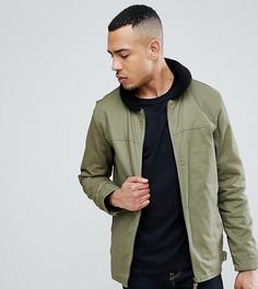 Куртка с воротником из искусственного меха Ringspun TALL - Зеленый