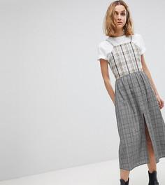 Свободное платье миди в клетку Reclaimed Vintage Inspired - Мульти